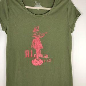 No Boundaries Aloha Hula girl short sleeve T-shirt